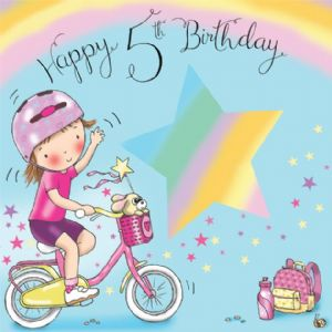 TW635 - Age 5 Birthday Card Girls